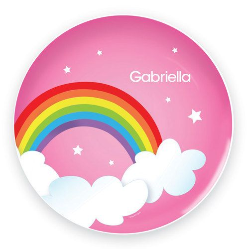Dreamy Rainbow Personalized Melamine Plate  For That Occasion  sc 1 st  Pinterest & Dreamy Rainbow Personalized Melamine Plate :: For That Occasion ...