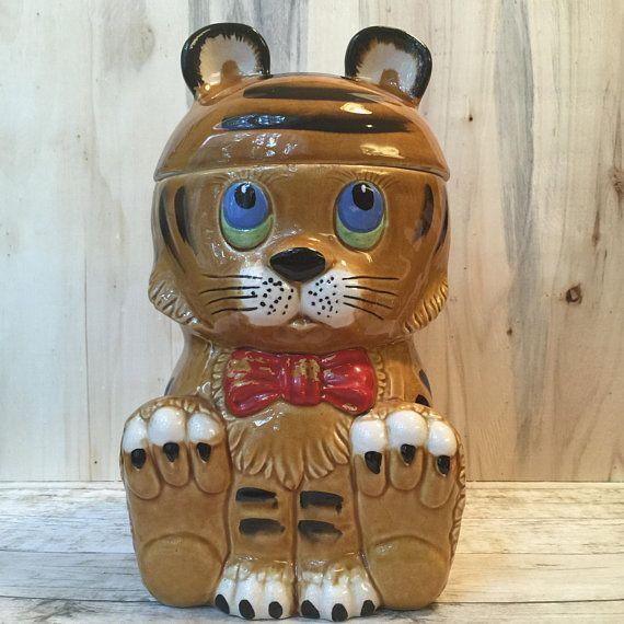 Vintage Baby Tiger Cookie Jar