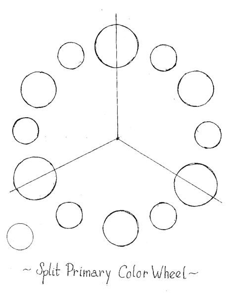 split primary color wheel pattern  template
