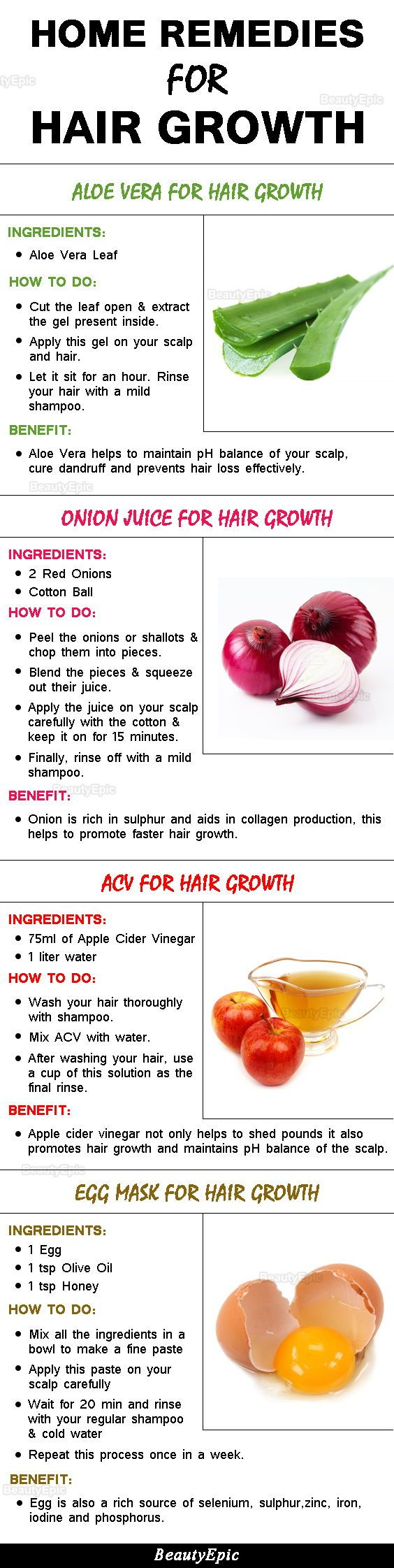 16 Effective Home Remedies for Hair Growth and Thickness