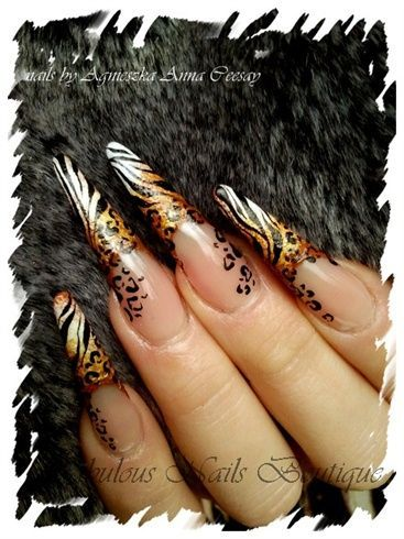 Photo of WILD … by Agusia – Nail Art Galerie nailartgallery.na … by Nails Magazine …