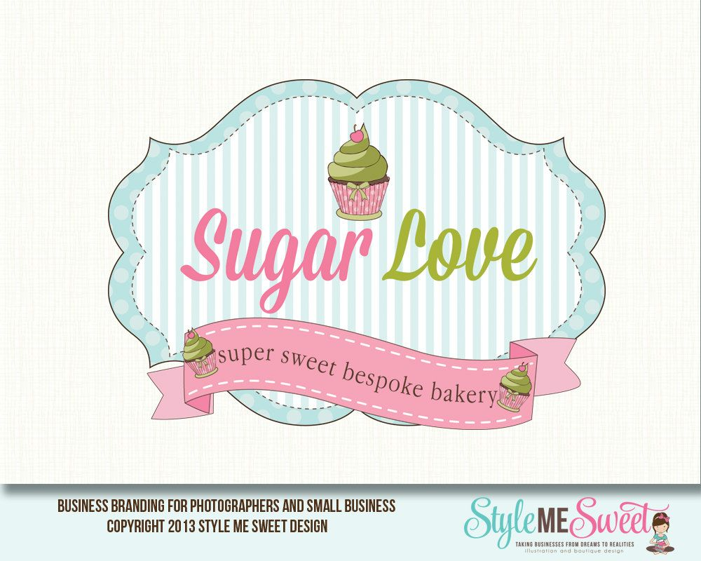 Cupcake Logo Design Bakery Logo Design by stylemesweetdesign, $110.00