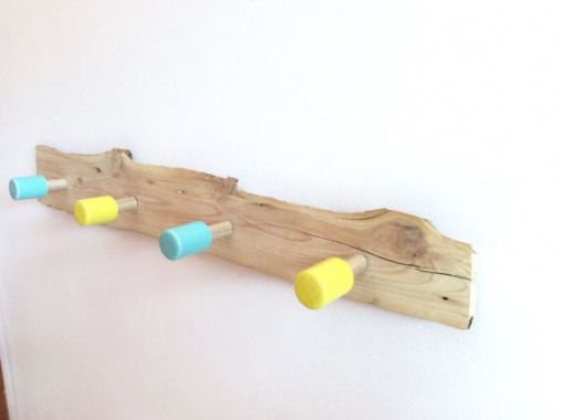 Kids Wall Hooks Wooden Coat Rack Nursery Decor By Blueanwhite Kidswoodcrafts Kids Wood Crafts Wooden Coat Rack Kids Wood Childrens Coat Hooks