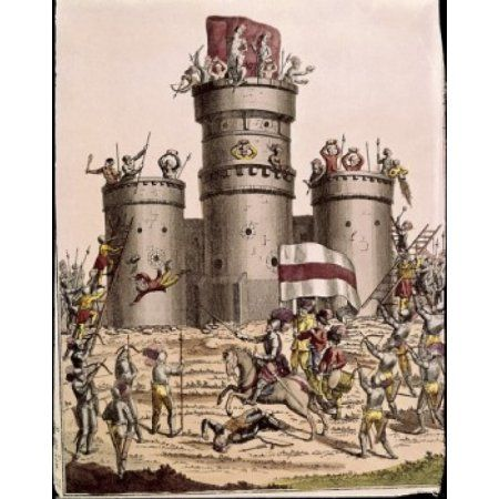 Stone Castle of the Middle Ages Artist Unknown Canvas Art - (24 x 36)