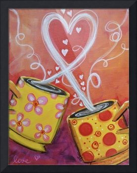 """Love Mugs"" by Christine K. Jones, Canal Winchester, OH // Acrylic on canvas // Imagekind.com -- Buy stunning fine art prints, framed prints and canvas prints directly from independent working artists and photographers."
