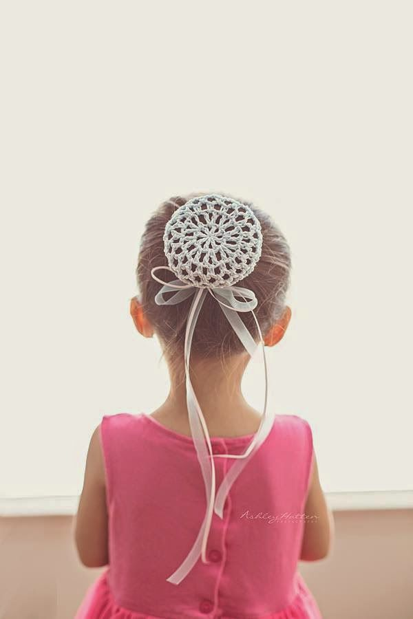 "podkins: ""Free pattern for a crocheted Ballerina Bun Cover - via the ..."