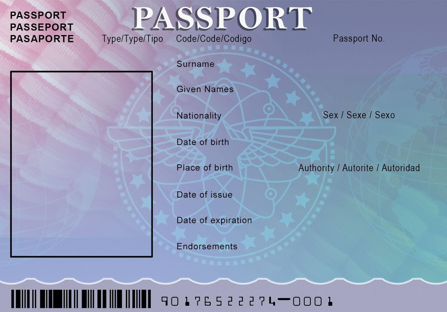 photo about Printable Fake Ids named blank pport template - Check out (