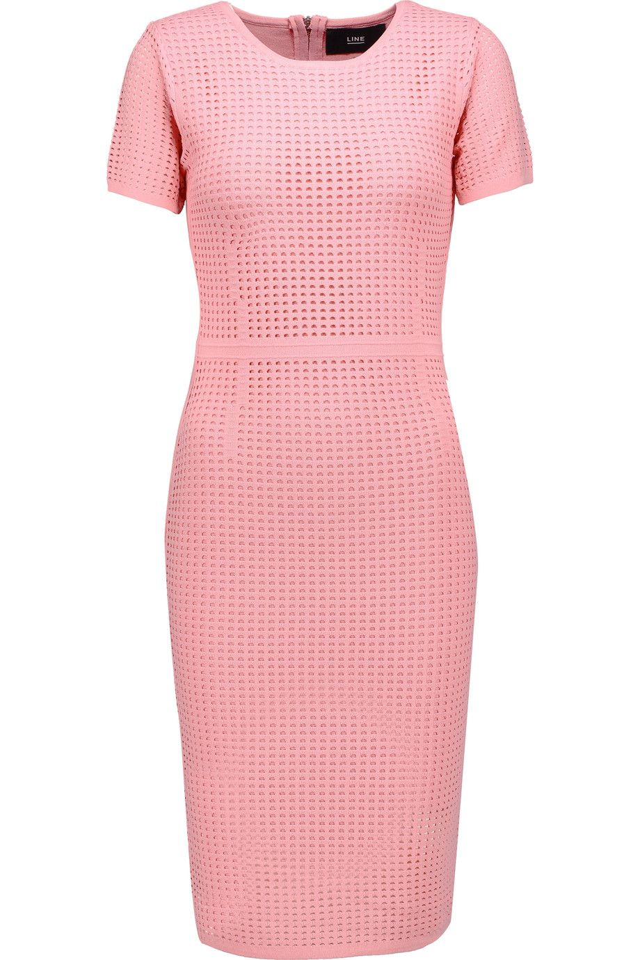Pink sweater dress outfit  LINE Joyce OpenKnit Dress line cloth dress  Pretty In Pink