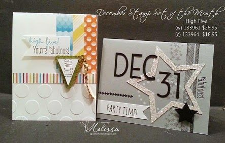 Stampin' Up! High Five - December Stamp set of the Month - by Melissa Davies @ rubberfunatics