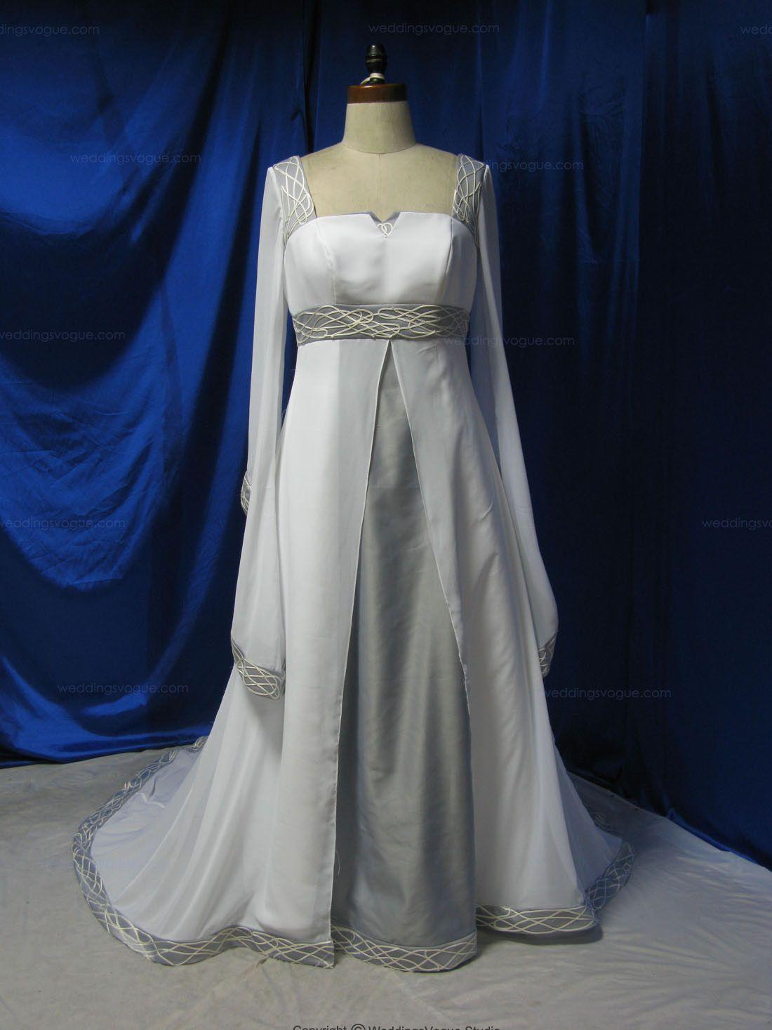 Plus size wedding dress designers  Comfortable Column Long Sleeves Crossed Ribbon Decorated Sweep Train