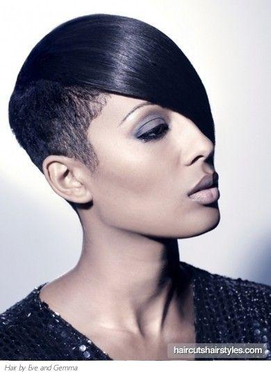 Short Undercut Black Hair Style512 Jpg 390 542 Pixels Half Shaved Hair Short Hair Styles African American Hair Styles
