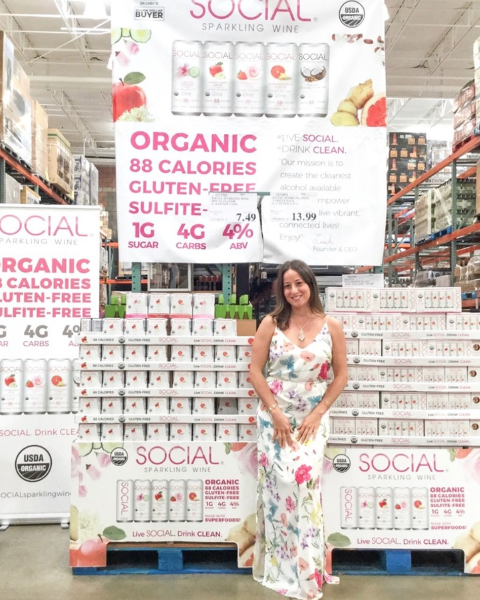 Social Is Now At Costco Our Founder Leah Traveled All Over Florida To Share Her Story And Connect With Social Sup Sparkling Wine Costco Roadshow Living Social