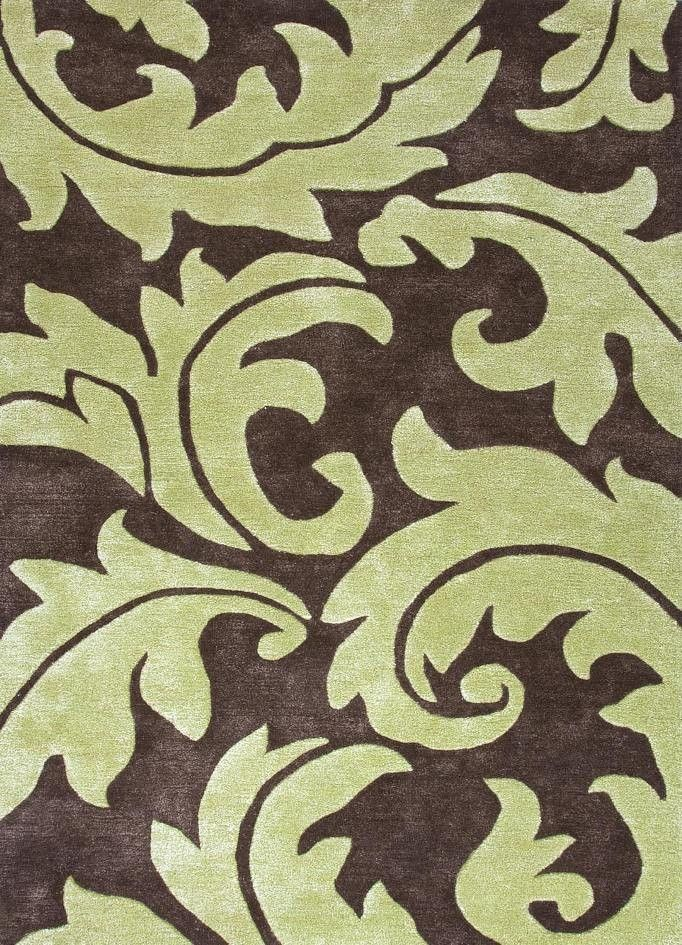 Jaipur BL100 Hand-Tufted Abstract Pattern Wool/ Art Silk Gray/Ivory ...