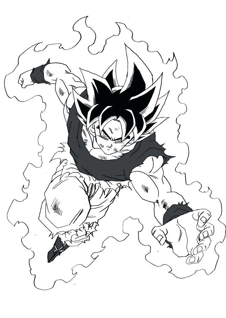 Colorear Goku Manga Dragon Ball Z Goku Super Saiyan Blue Para
