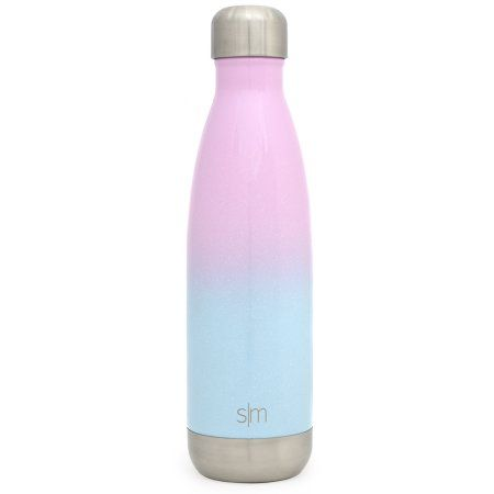 2e359d6875 Simple Modern 17oz Wave Water Bottle - Vacuum Insulated Double Wall 18/8  Stainless Steel Hydro Swell Flask - Fusion Collection - Sweet Taffy