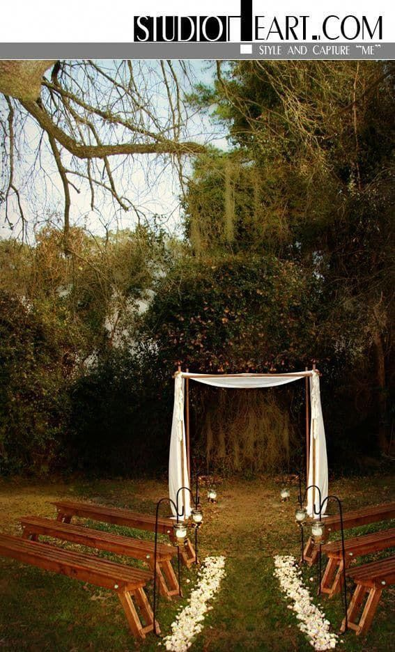 Heavenly shared wedding on a dime he said | Small backyard ...
