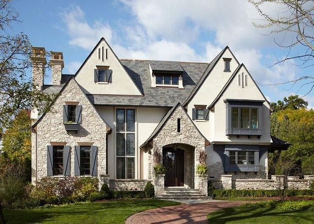 Architecture Design The Stucco And Stone Home Design Idea