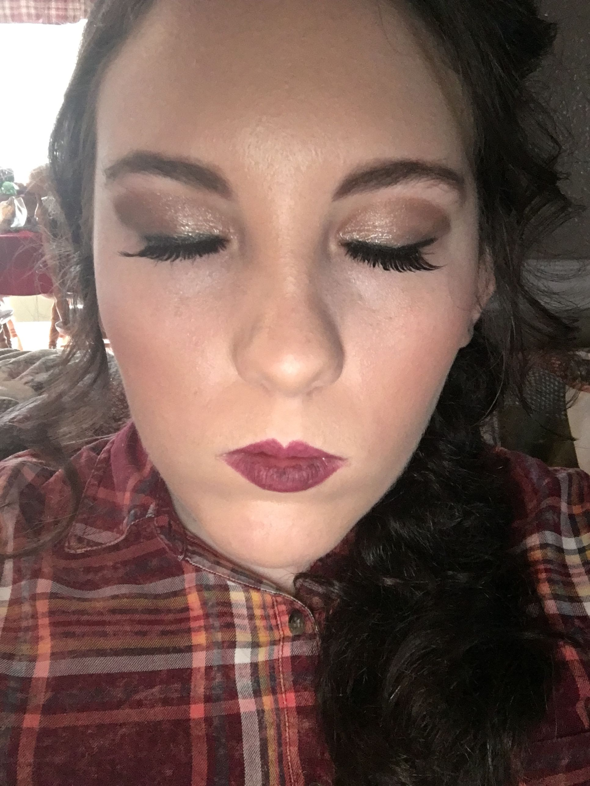 Wedding makeup done!