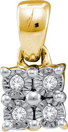 0.03ctw Diamond Silver Fanook Pendant RedBoxJewels.com. $19.95