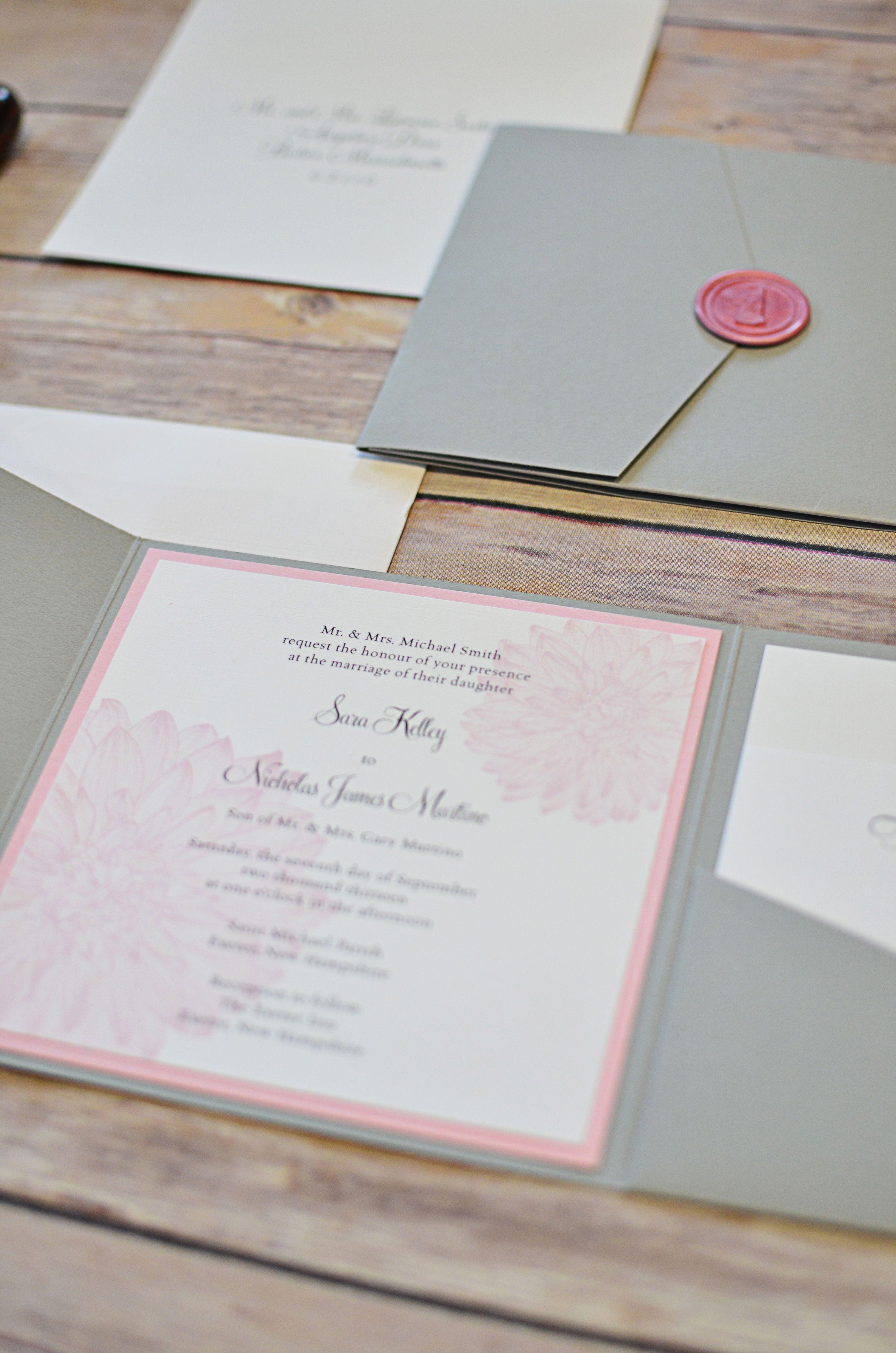 wedding invitation suite done by Invited design studio in NH www.inviteddesignstudio.com