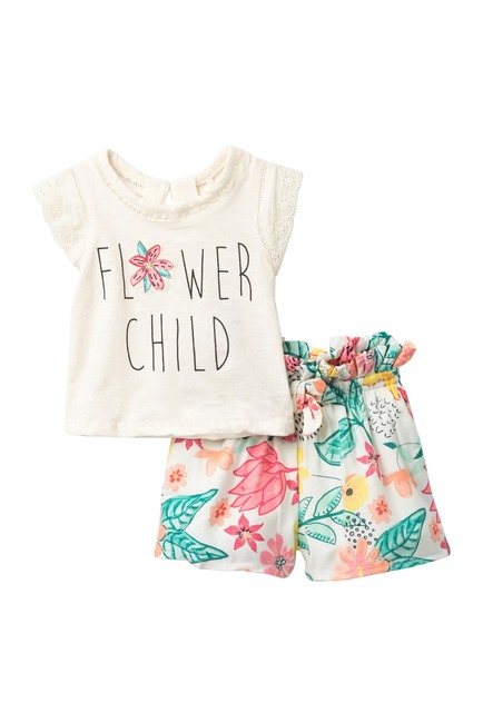 Jessica Simpson | Flower Child Shorts Set (Baby Girls #nordstromrack