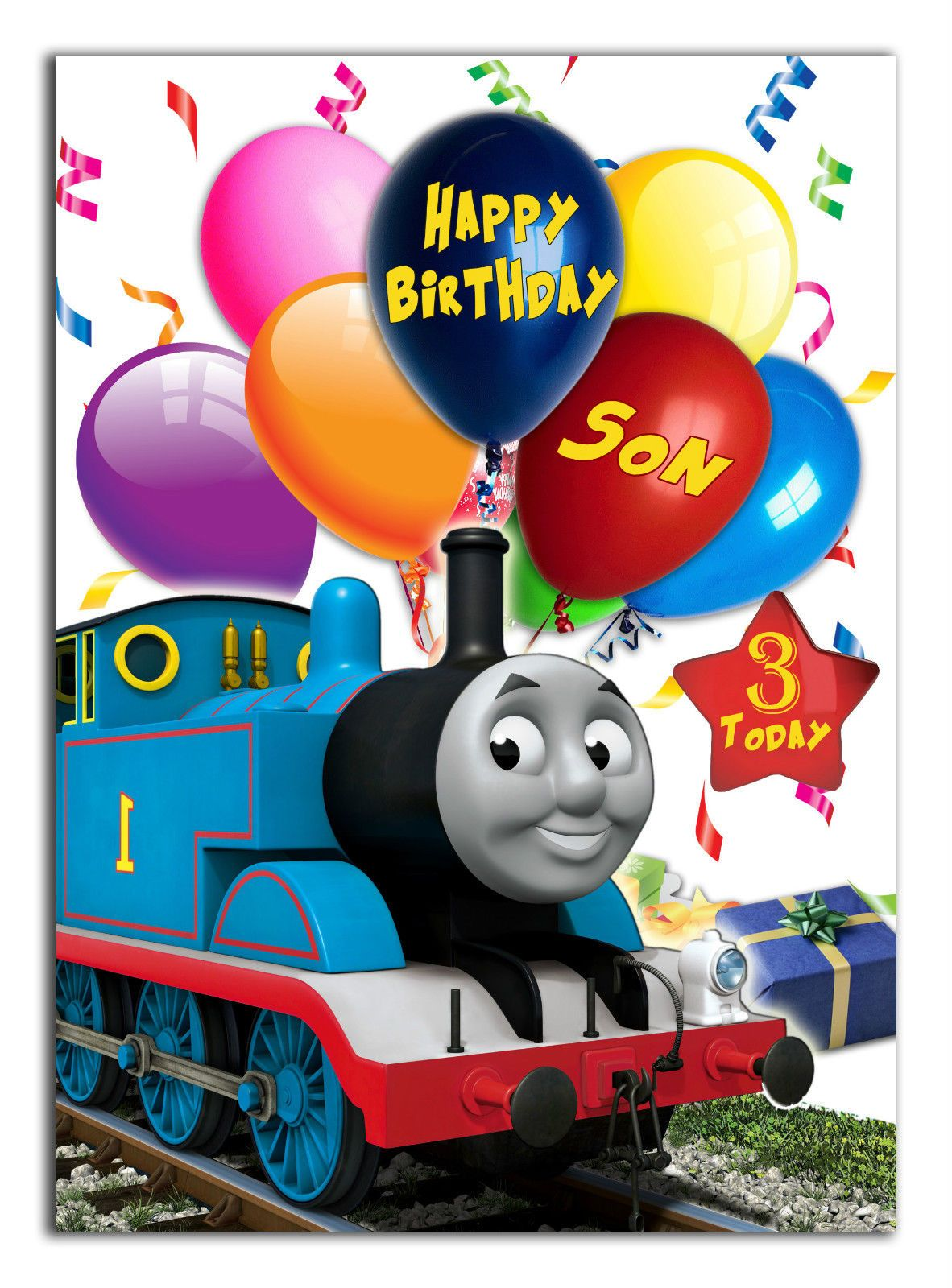 C486 Large Personalised Birthday Card Custom Made For Any Name Thomastrain Birthday Wishes For Kids Belated Birthday Card 18th Birthday Cards