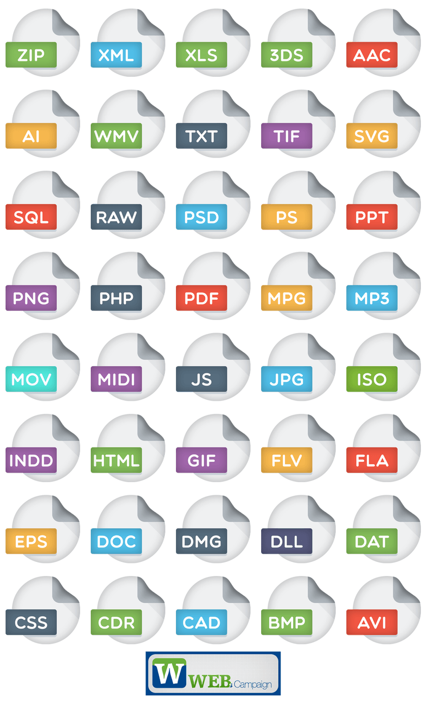 Free PSD and PNG File Extensions Icons Pack File