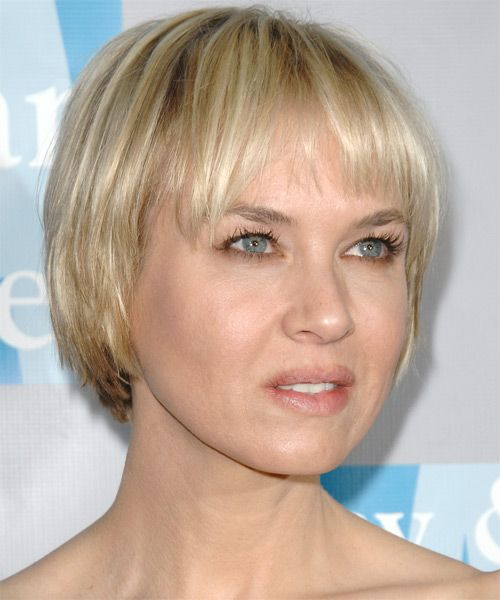 Renee Zellweger Short Straight Casual Bob Hairstyle