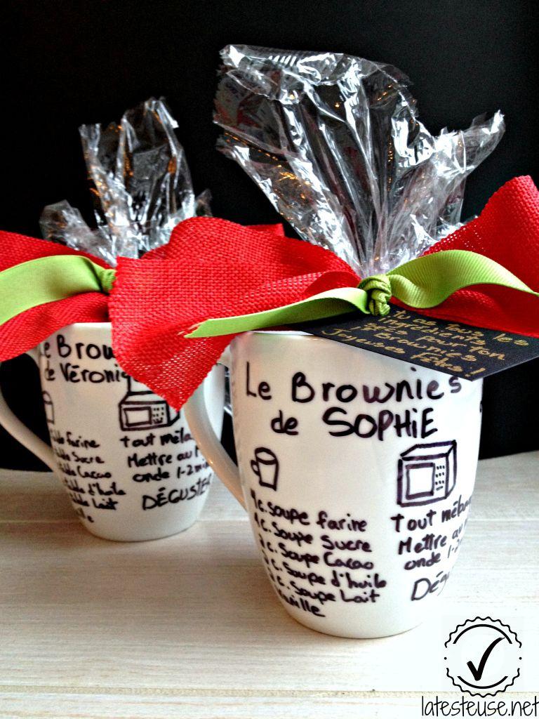 brownie dans une tasse personalis e lafestive trucs sant et recettes pour recevoir. Black Bedroom Furniture Sets. Home Design Ideas