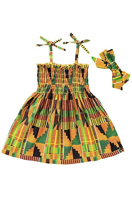 YOUNGER TREE African Baby Clothes Girl Dashiki Ank