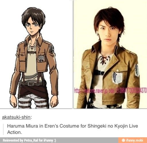 Haruma Miura In Costume And I Really Like Him Okay Ifunny Snk Ataque A Los Titanes Kyojin