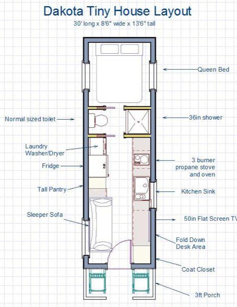 255 sq ft dakota tiny house built like a house works. Black Bedroom Furniture Sets. Home Design Ideas