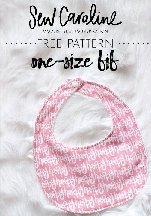 FREE One-Size Baby Bib Pattern (SewCaroline) | Nähen fürs Baby, Das ...