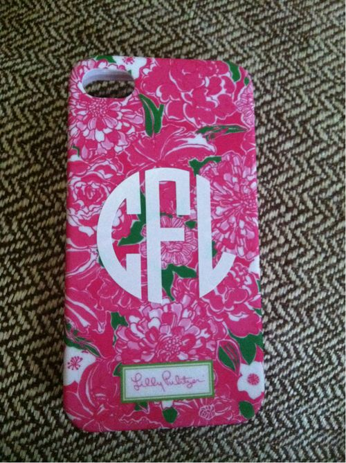 lilly case with a monogram? thats a funny way to spell perfection.
