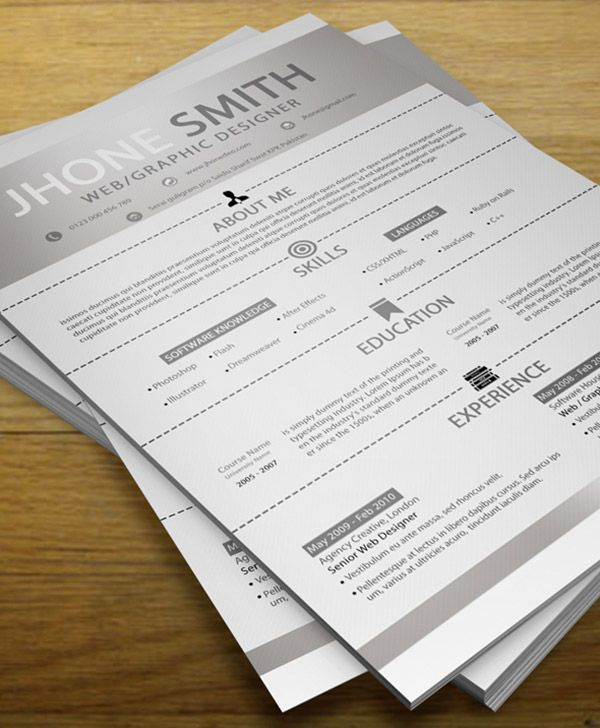Simple Resume + Cover Letter + Business Card Resume Template - resume business cards