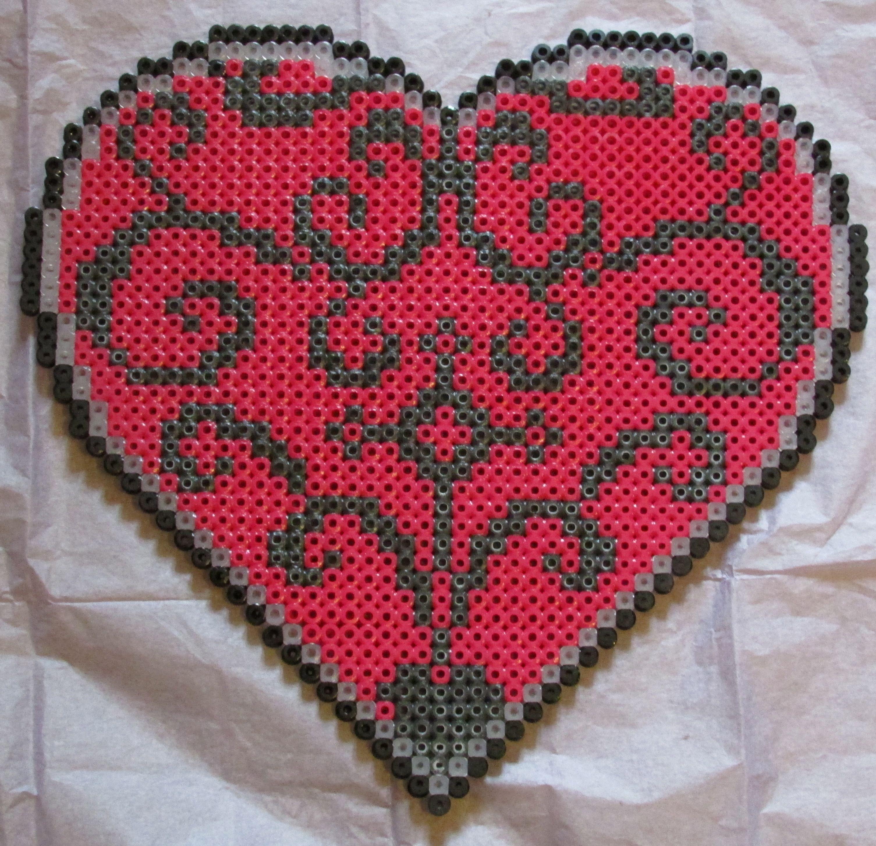 heart hama perler beads by keely jade perler bead ideas. Black Bedroom Furniture Sets. Home Design Ideas