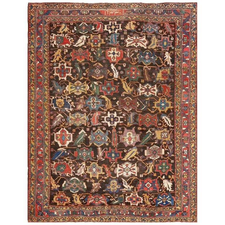 Antique Persian Bakhtiari Rug Size 9 Ft 6 In X 12 Ft 2 In 2 9 M X 3 71 M Persian Rug Rugs Rugs On Carpet