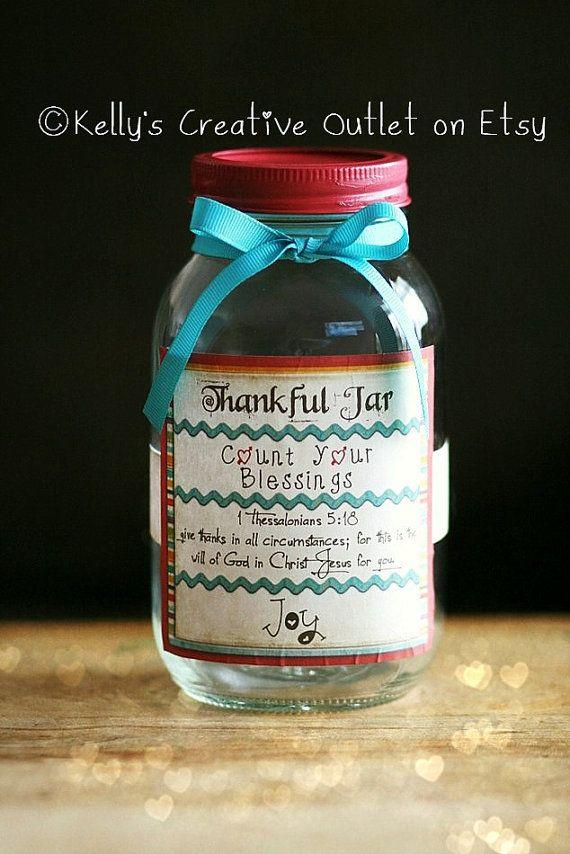Thankful Jar Blessing Jar Mason Jar Decor Christian Etsy Blessings Jar Gratitude Jar Prayer Jar