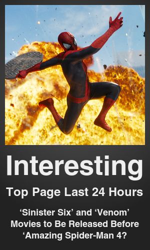Top Interesting link on telezkope.com. With a score of 642. --- 'Sinister Six' and 'Venom' Movies to Be Released Before 'Amazing Spider-Man 4′. --- #topinterestinglinks --- Brought to you by telezkope.com - socially ranked goodness