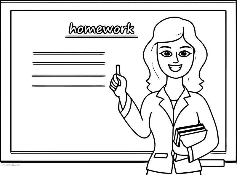 English Teacher Homework Coloring Page Superhero Coloring Pages Barbie Coloring Pages Coloring Pages
