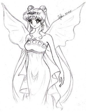 Princess Serenity Coloring Pages Portraits