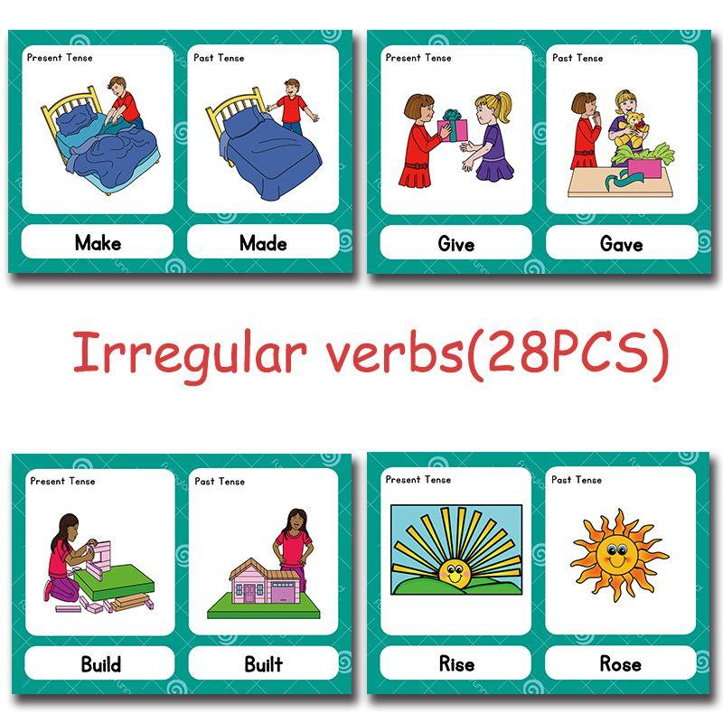 Kupit Tovar Nepravilnye Glagoly Montessori Anglijskoe Slovo Karmannyj Flash Kartochnaya Igra Gol Verbos Irregulares Verbos Irregulares Ingles Palabras Inglesas