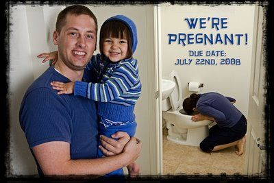 We're pregnant card. Lol! For us, we would have to switch places since you take care of the throwing up for me! :)