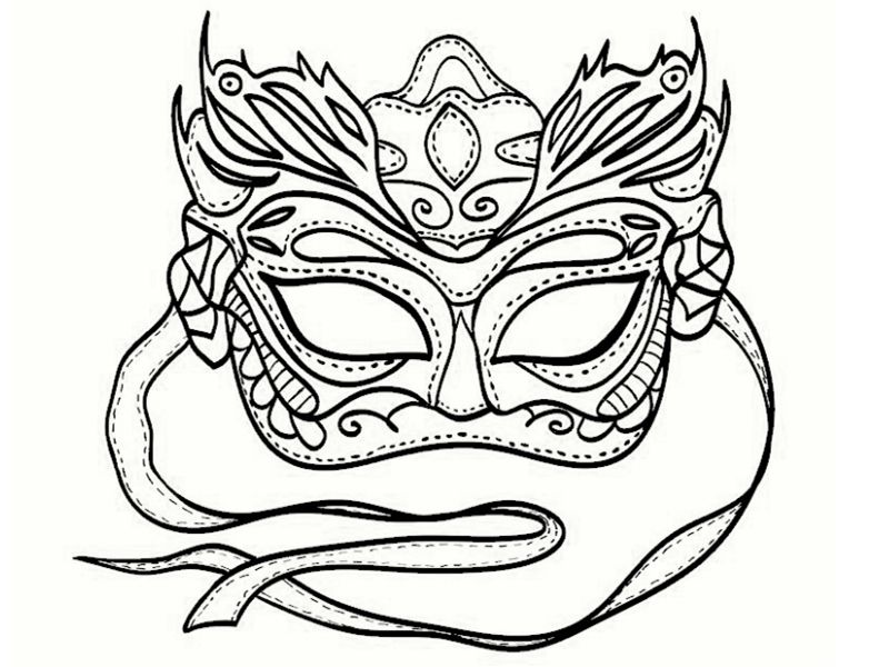 Masque carnaval coloriage bing images coloring - Masque venitien a imprimer ...