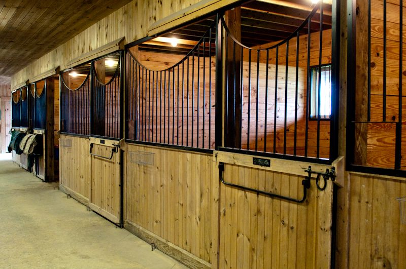I like that they are swing out doors rather than sliding doors. Would Jaguar like them? #horsestalls