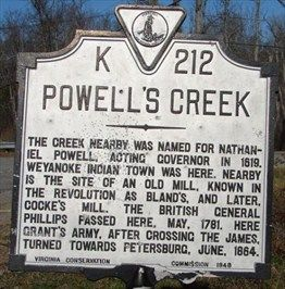 Nathaniel Powell - 10th Great Grand Uncle - deputy governor