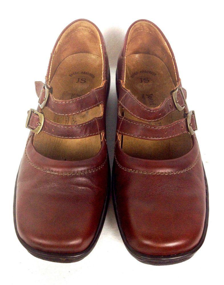 Josef Seibel Shoes Womens Brown Leather Loafers 8 39  JosefSeibel   MaryJanes  WeartoWork 2d5e3037c
