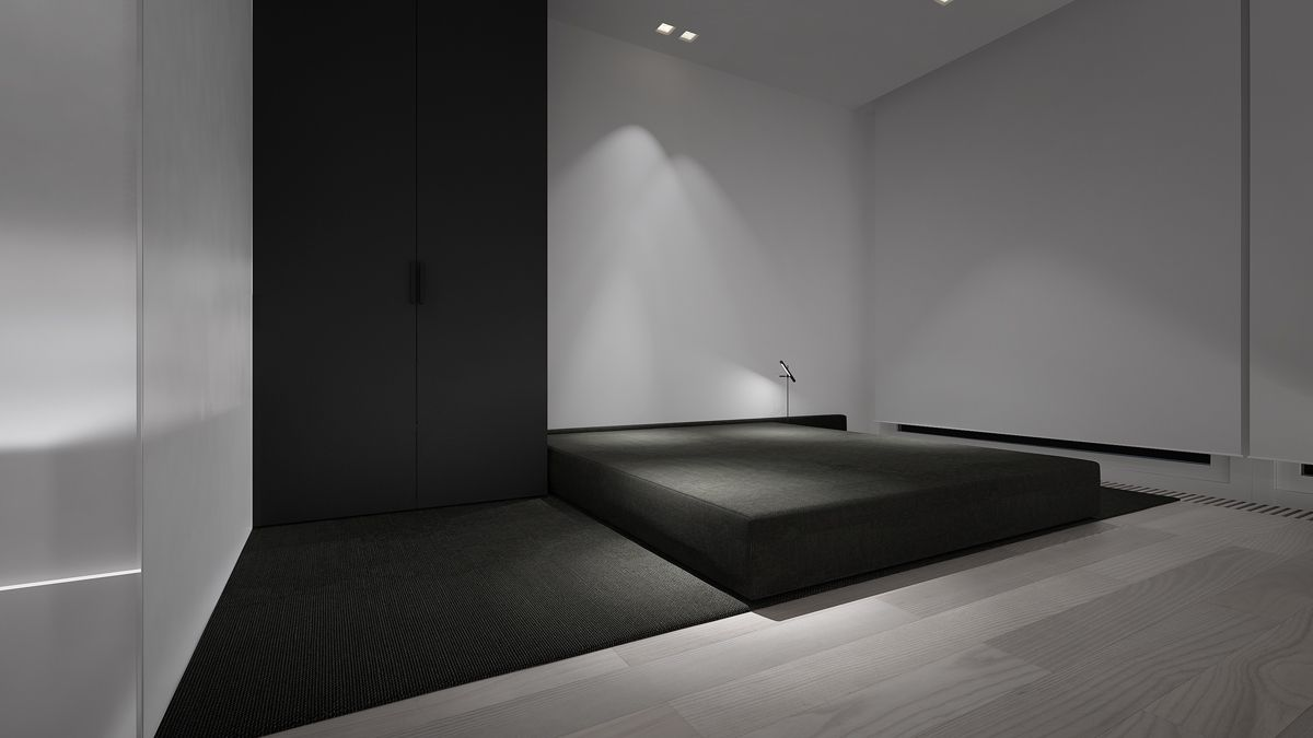 The texture of the platform also stands in beautiful for Beautiful minimalist bedrooms