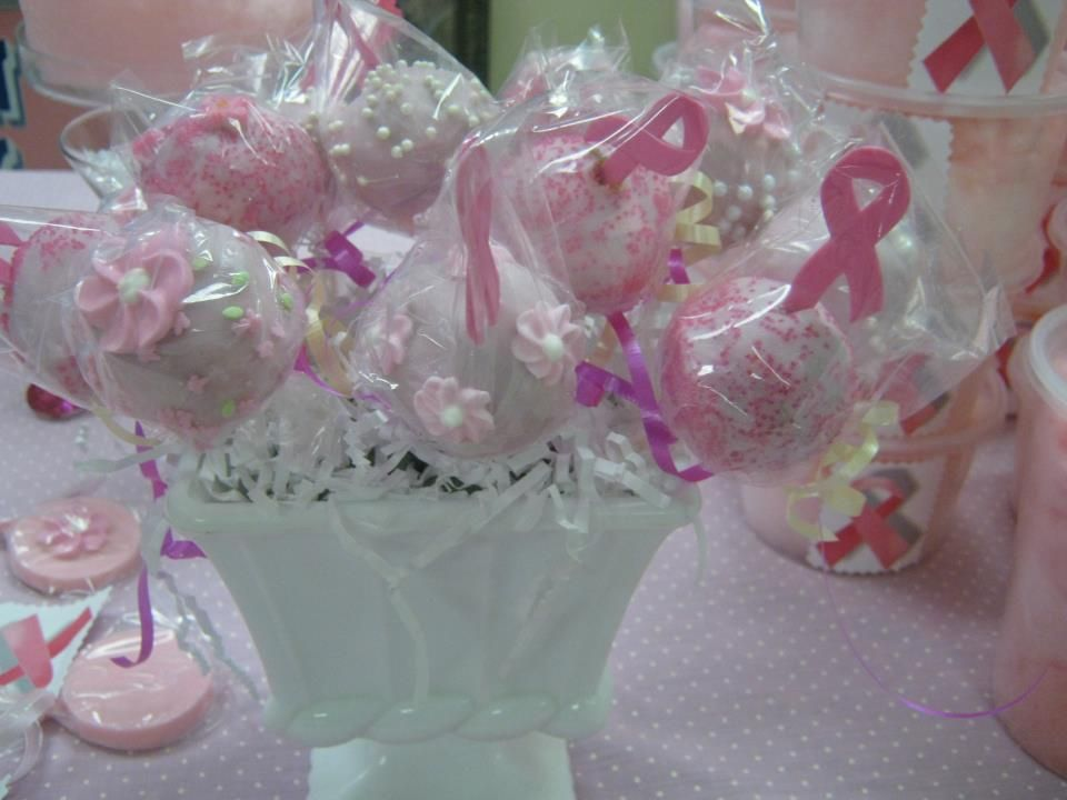 breast cancer awareness cake pops decorating ideas. Black Bedroom Furniture Sets. Home Design Ideas