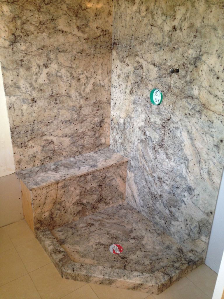 This Extended Neo Angle Shower Uses Marble Ite On The Walls The Bench Seat And The Custom Base With Ang Neo Angle Shower Cultured Marble Shower Master Shower